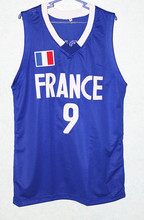 Tony Parker #9 Team France New Men Basketball Jersey White Any Size Throwback Jerseys Stitched Embroidery Retro Embroidery Jerse