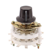 UXCELL Material Kct 5 Pole 4 Throw 6Mm Shaft Band Channel Rotary Switch Selector W Cap ceramic, | metal, | plastic(China)
