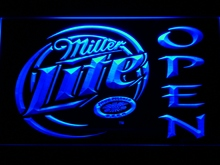 029 Miller Lite Beer OPEN Bar LED Neon Sign with On/Off Switch 7 Colors 4 Sizes to choose