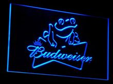 a032 Budweiser Frog Beer Bar Pub LED Neon Sign with On/Off Switch 7 Colors 4 Sizes to choose