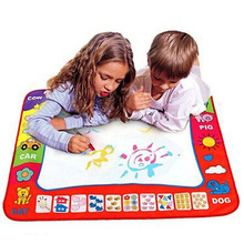 Children Color Water Canvas Magic Magic Writing Blanket Early Education Puzzle Toys 45.5*29cm(China)