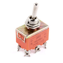 Uxcell Ac 250V 15A  On-Off-On 3 Positions Latching Miniature Toggle Switch Orange . | 12pin | 2pin | 3pin | 6pin | pin