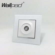 Satellite TV Socket Wallpad White Crystal Glass EU European Standard Satellite Television TV Port Jack Wall Socket with Claws(China)
