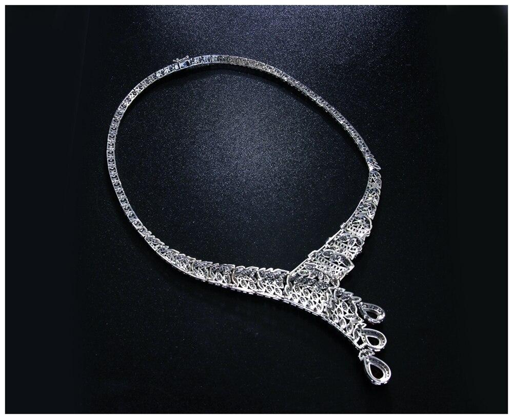 Red drop jewellery set SN04156SI (2)