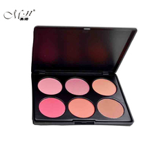 Menow Professional Brand 6 Colors Blush Palette Cheek Makeup Naked Blusher Powder Palette Matte Face Cosmetics Make Up(China)