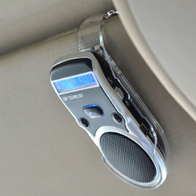 Solar Powered LCD Display Bluetooth Car Kit Handsfree Calling Device Speaker(China)