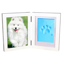 Pet Photo Frame+Clay Set Pet Paw Print Photo Frame DIY Pet Memorial Picture Frame Kit Dog for Room Wall(China)