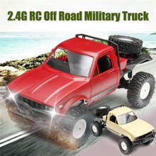 Buy WPL C14 1/16 2.4G 4WD Road RC Military Car Rock Crawler Truck Front LED RTR Toys Kids Presents Gift for $48.99 in AliExpress store