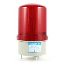 Industrial 105-110Db Buzzer Siren Ac 110V Red Led Warning Light Signal Tower Lamp(China)