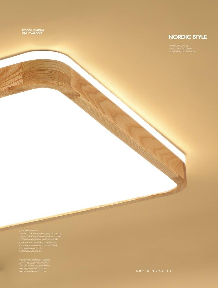 q (1)Ceiling Lights Wood