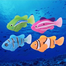 TOYZHIJIA 1Pc funny Fish Electric Toy Pet Fish With Aquatic Gift for Kids Children Activated Robotic Fish can Swims Random Color(China)
