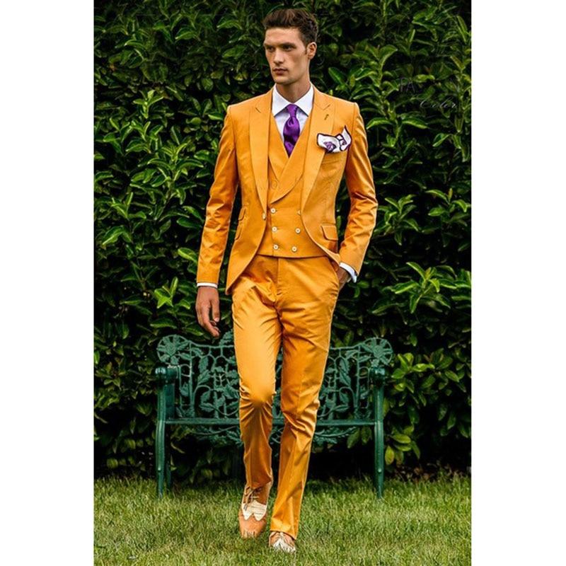 2017-Yellow-Double-Breasted-vest-Men-Suit-Slim-Fit-3-Piece-Tuxedo-Italian-costume-homme-Blazer