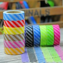 (5 pieces/lot) Colorful Twill Washi Tape DIY Adhesive Masking Tape Set Scrapbooking cinta de la decoracion