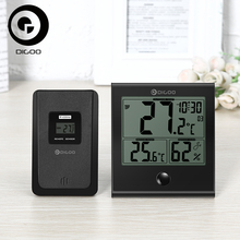 Digoo DG-TH1180 Thermometer Hygrometer Indoor Outdoor Glass Panel Temperature Humidity Monitor Home Comfort