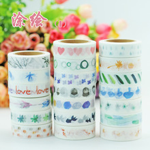 (5 pieces/lot) Colorful Graffiti Style Wahi Tape Color Paper Sticker DIY Scrapbooking Masking Tape