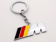Black Red Yellow 3 Colors M Logo Car Keychain KeyRings Fob Holder Car Logo Power M Series(China)