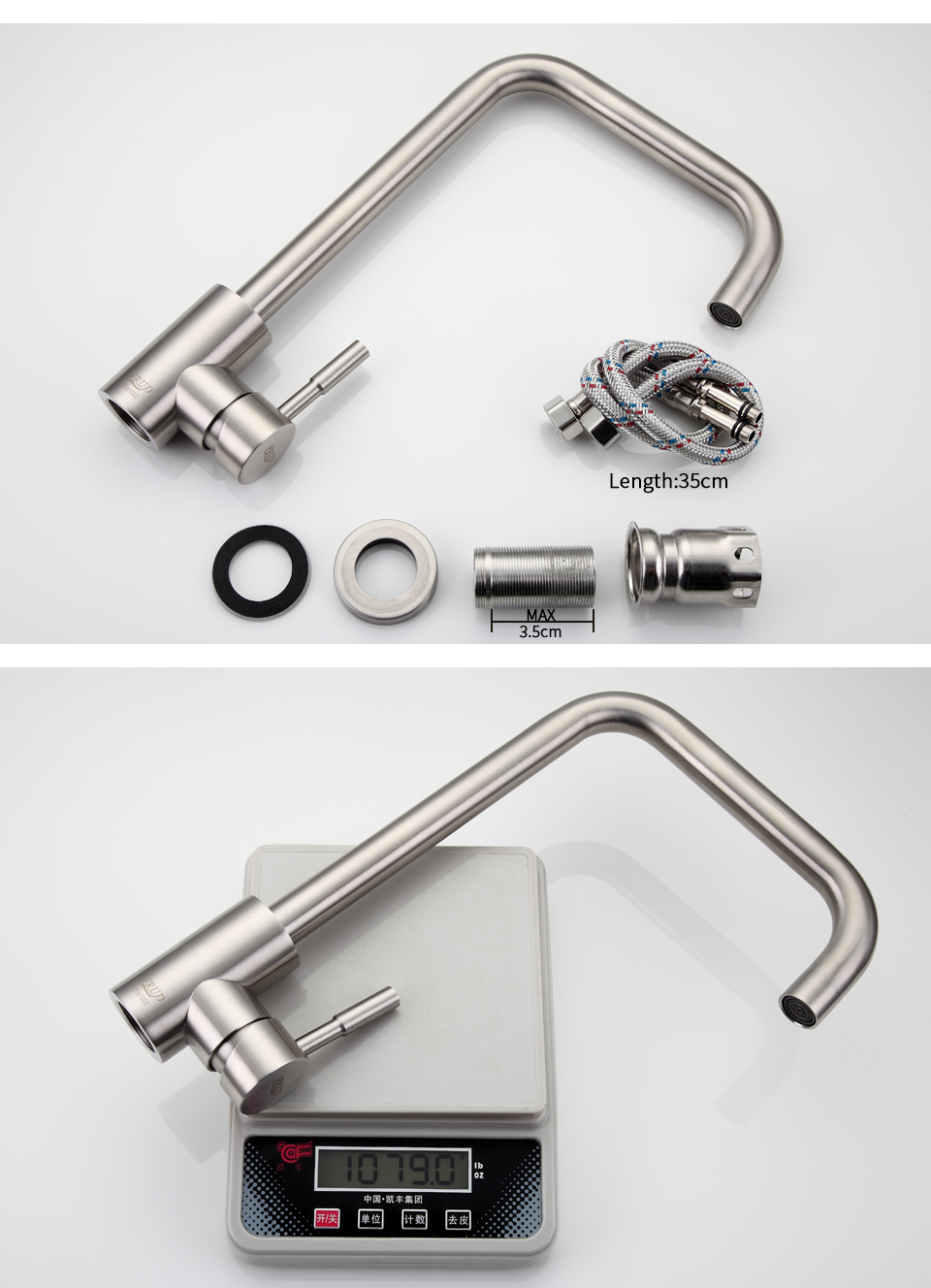 stainless steel tall Kitchen sink 10