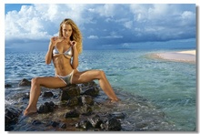 Custom Canvas Wall Decor Sexy Hannah Ferguson Poster Hannah Ferguson Wallpaper Pin Up Wall Stickers Office Wall Murals #0085#(China)