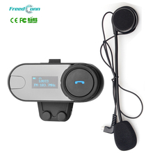 FreedConn 1 Piece 3 Riders HiFi Speaker Moto Intercom Headphone LCD Screen+FM 800M Bluetooth Wireless Interphone Helmet Headset
