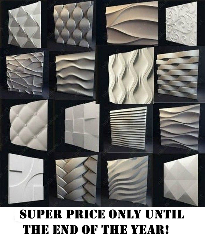 Slip Casting Molds & Kits *ether* 3d Decorative Wall Panels 1 Pcs Abs Plastic Mold For Plaster
