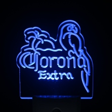 ws0216 Corona Extra Parrot Beer Day/ Night Sensor Led Night Light Sign(China)
