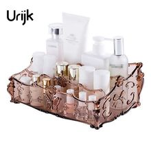 Urijk 1Pc Cosmetic Storage Box Table Jewelry Box Desktop Makeup Case Makeup Organizer Skin Care Lipstick Display Holder Bathroom(China)