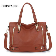 CHISPAULO New HOT Brand Handbags Bolsas Women Leather Bags Tassel Women Messenger Bags Patent Leather Handbags Clutch Q5(China)