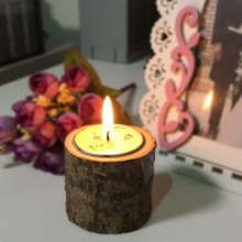Creative Country Style Wedding Supplies Wooden Candlestick Wood Candle Holders Home Table Decorations(China)