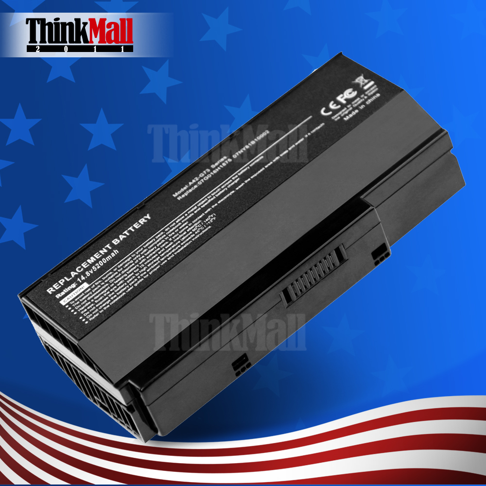 Replacement 8Cells Computer Battery for ASUS 07G016DH1875/G73-52/70-NY81B1000Z/G53/90-NY81B1000Y(China (Mainland))