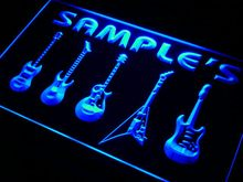 qp-tm Name Personalized Custom Guitar Hero Weapon Band Music Room Bar Neon Sign with On/Off Switch 7 Colors 4 Sizes