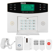 NEW LCD Security Wireless GSM Autodial Home House Burglar Intruder Fire Alarm System For Home Security