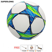 2017 Champions League Official size 5 Football ball Professional Soccer PU Material Football Anti-slip Seamless soccer ball gift