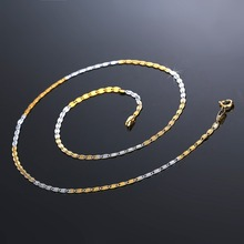 Vintage Long Chain for Men Women Necklace Trendy Gold Color Copper Thick Bohemian Colar Male Necklaces Twisted Snake BA0009(China)