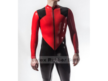Buy New Style Latex Red&Black Catsuit Latex Tights Body-Suit Nature Latex Handmade Costumes (No Sock)