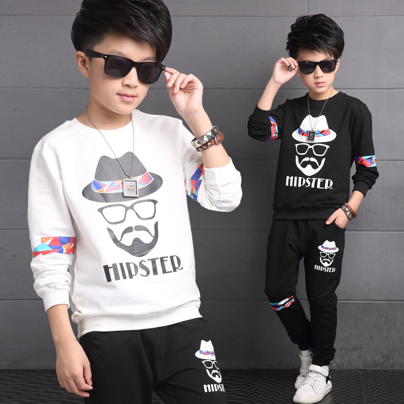 Childrens clothing spring big boys shirt + pant 2pcs,kids cotton casual sweater twinset baby boy clothes Europe top 4-14Y<br>