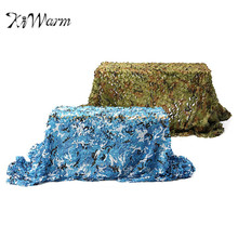 KiWarm Quality Outdoor Camo Net Military Camouflage Netting Mesh Games Hide Camouflage Net Hunting Camping Net Car Cover 5x2m