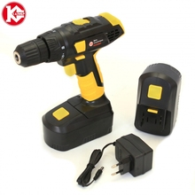 Cordless drill with battery Kalibr DA-18/2+ (18V, 2 Battery Ni-Cd, 2 speed) screw driver, power tools mini drill
