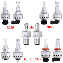 RUPO 2pcs Car Bulbs 90W 12000LM 6000K White 9006 9005 H11/H8 H7 H4 LED Headlight Kit Auto Lamp Fog DRL Driving Light Bulb 12-24V(China)
