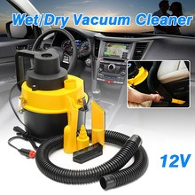 Car Portable Wet Dry Car Vacuum Cleaner Inflator Turbo Hand Held Car Super Suction Dust Collector Cleaning 12V 75W(China)