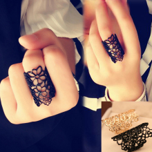 Fashion Jewelry Rings European And American Female Hollow Lace Flower Wholesale Accessory(China)