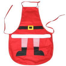 1piece Christmas Decoration Kitchen Aprons Christmas Dinner Party Apron Santa Dinner Table Home Party Decorations(China)
