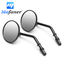 1 Pair Round 3 inch Retro Motorcycle Rearview Mirror For Harley Sportster Ryca Motors