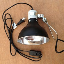 "100W Reptile Ceramic Heat UVA/UVB Lamp Light Holder 5.5"" E27 Chicken Brooder Basking Black Silver Aluminum 19*14cm(China)"