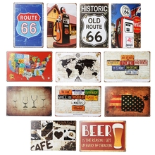 Retro Tin Sign Wall Decor Metal Bar Plaque Retro Poster Pub Tavern Coffee Shop Business Lounge Office Party Wall Art(China)