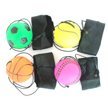 Return Sponge Rubber Ball Elastic Sport On Nylon String Children Kids Outdoor Toy color random(China)