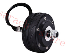 "free shippping 24V 150W 4"" hub motor wheel double shaft electric wheel hub motor brushless hub motor(China)"