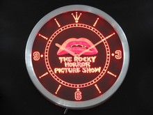 nc0220 The Rocky Horror Picture Show Neon Sign LED Wall Clock(China)