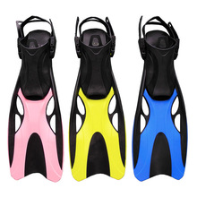 Swim Fins for Adult Adjustable Swimming Frog Shoes Silicone Professional Dive Team Open Diving Snorkeling Long diving Flippers(China)