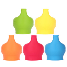 New Style 1Pc Creative Silicone Kids Baby Sippy Lids Silicone Stretchable Leakproof Cup Sets(China)