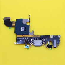 High Quality i6s Charging Port USB Connector Dock Headphone Audio Jack Flex Cable Replacement For iPhone 6S 4.7'' inch(China)